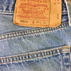 Y2K Vintage Levis 501 Stone Wash Denim Jeans 38